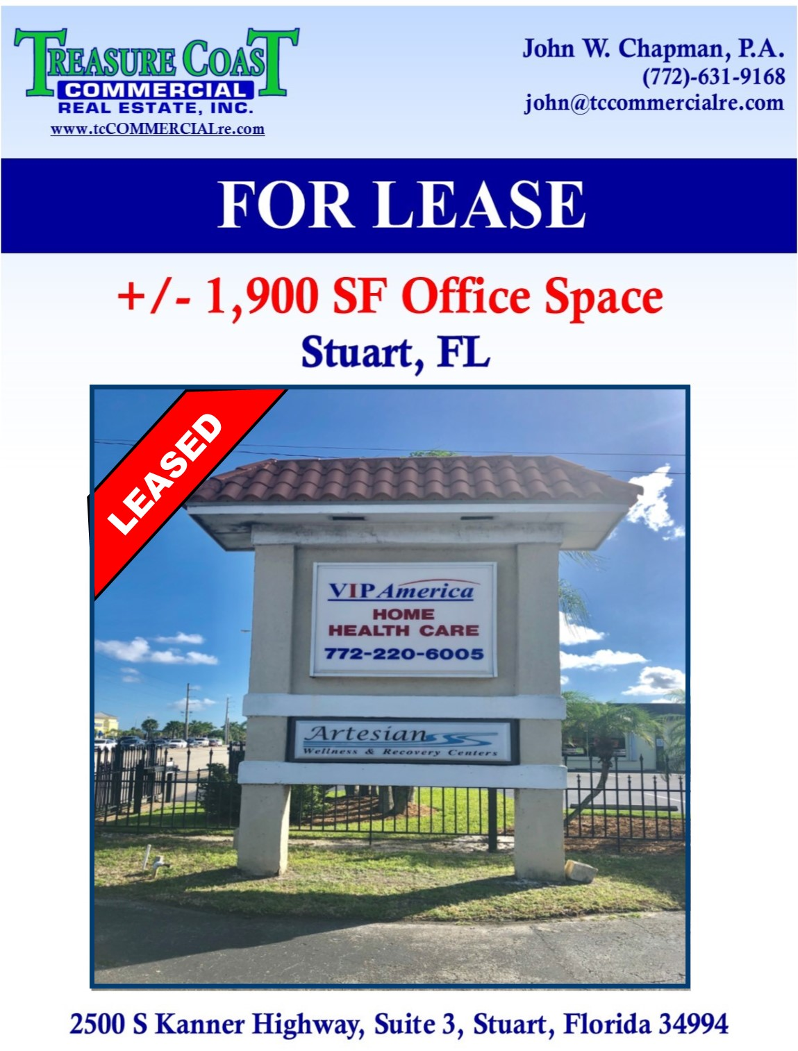 MEDICAL OFFICE LEASED