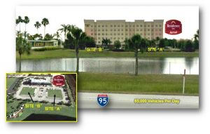Two commercial real estate lots for sale in Port St Lucie, Florida