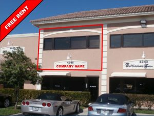 Free rent on a commercial office condo located in Palm City, Florida